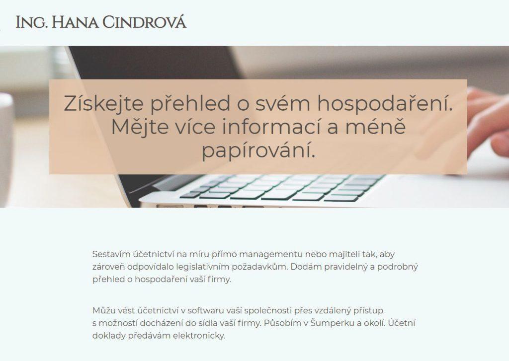 Vedení účetnictví Ing. Hana Cindrová - Šumperk a okolí